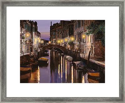 Venezia Al Crepuscolo Framed Print by Guido Borelli