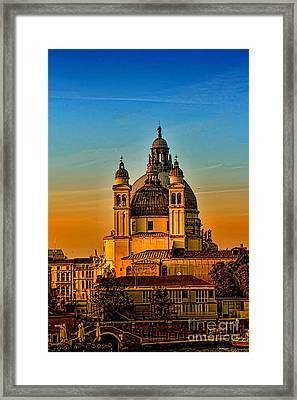 Venezia-basilica Of Santa Maria Della Salute Framed Print by Tom Prendergast