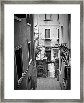 Venice Alley Framed Print by Todd Hartzo