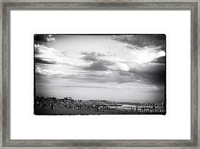 Venice Beach Noir Framed Print by John Rizzuto