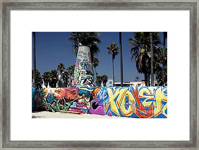 Venice Beach Graffiti Framed Print by John Rizzuto
