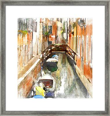 Venice Bridge And Canal 3 Framed Print by Yury Malkov