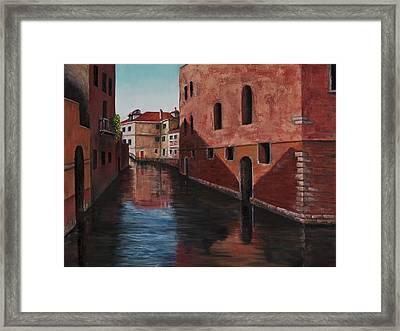 Venice Canal Framed Print by Darice Machel McGuire