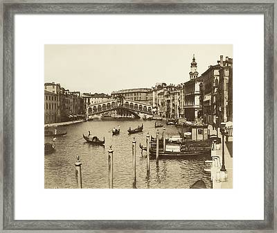 Venice Canal Grande Framed Print by Underwood Archives
