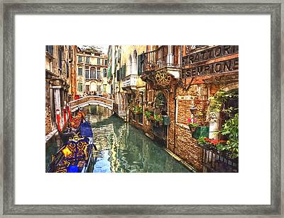 Venice Canal Serenity Framed Print by Gianfranco Weiss