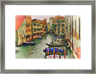 Venice Canals Watercolor 8 Framed Print by Yury Malkov