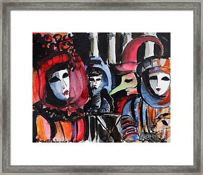 Venice Carnival 1 Framed Print by Mona Edulesco