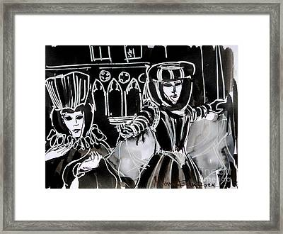 Venice Carnival 5 Framed Print by Mona Edulesco