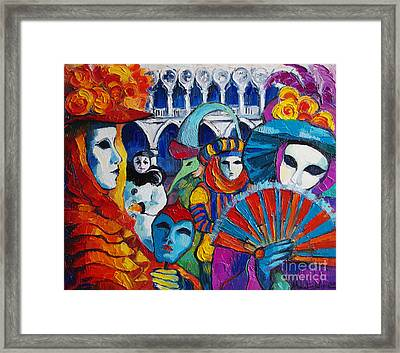 Venice Carnival Framed Print by Mona Edulesco