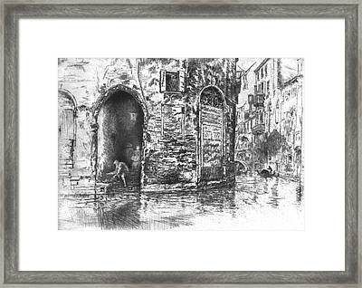 Venice Doorways 1880 Framed Print by Padre Art