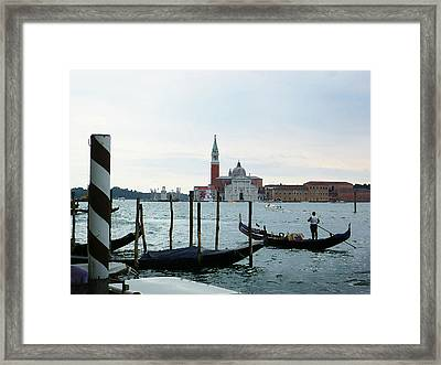 Venice Evening Last Gondola Ride Framed Print by Irina Sztukowski