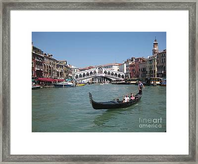 Venice Gondolier Framed Print by John Malone