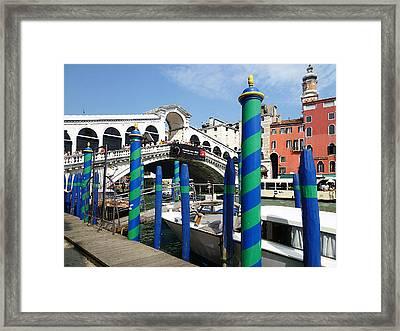 Venice Italy Ponte Di Rialto  Framed Print by Irina Sztukowski