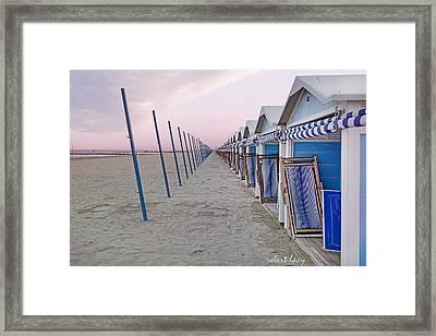 Venice Lido Framed Print by Robert Lacy