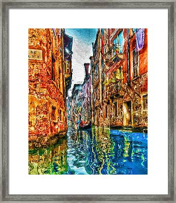 Venice Messy 2 Framed Print by Yury Malkov