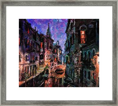 Venice Night Lights 2 Framed Print by Yury Malkov
