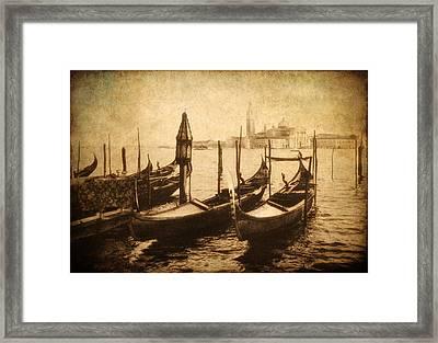 Venice Postcard Framed Print by Jessica Jenney