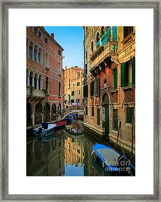 Venice Reflections Framed Print by Inge Johnsson
