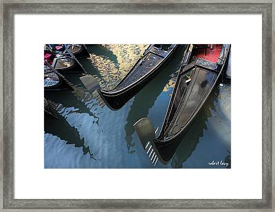 Venice Reflections Framed Print by Robert Lacy