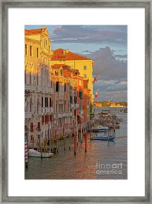 Venice Romantic Evening Framed Print by Heiko Koehrer-Wagner