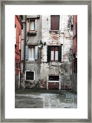 Venice Style Framed Print by John Rizzuto
