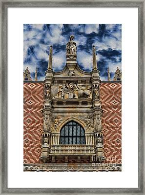 Venice - The Lion Of Saint Mark Framed Print by Lee Dos Santos