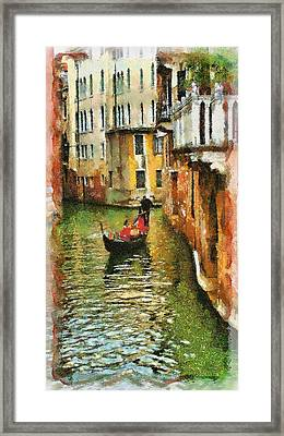 Venice View Framed Print by Cary Shapiro