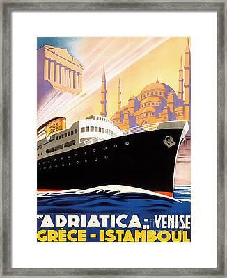 Venise Vintage Travel Poster Framed Print by Jon Neidert