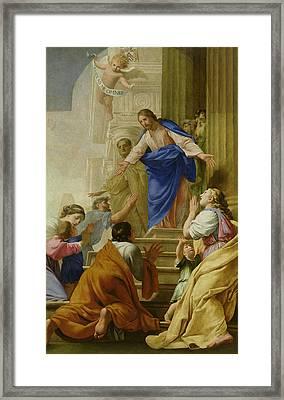 Venite As Me Omnes Framed Print by Eustache Le Sueur