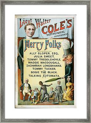 Ventriloquial Entertainment Framed Print by British Library