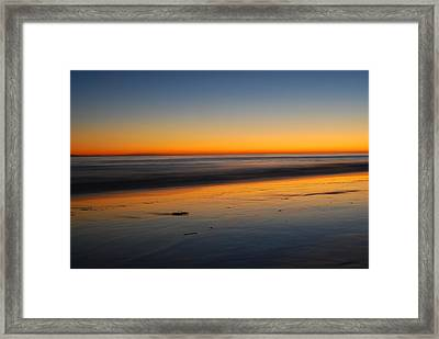 Ventura Beach Evening Framed Print by Catherine Lau