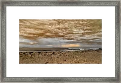 Ventura In Storm Framed Print by Angela A Stanton