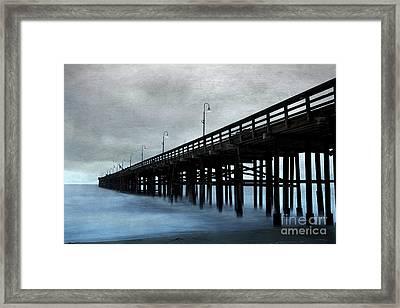 Ventura Pier Framed Print by Elena Nosyreva