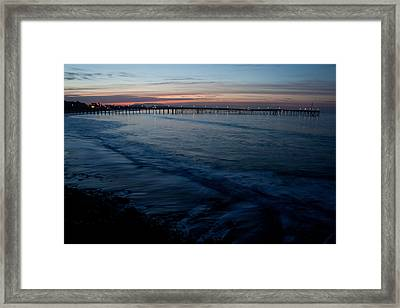 Ventura Pier Sunrise Framed Print by John Daly