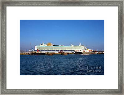 Ventura Sheildhall Calshot Spit And A Tug Framed Print by Terri Waters