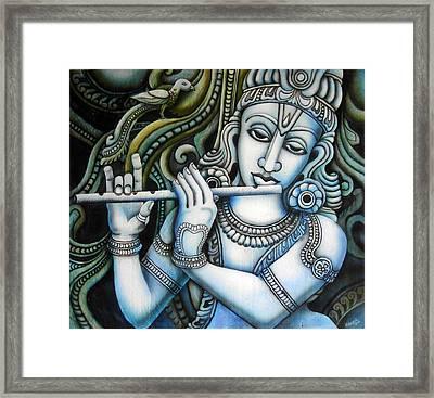 Venugopala Framed Print by Vishwajyoti Mohrhoff