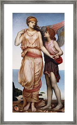 Venus And Cupid Framed Print by Evelyn De Morgan