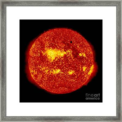 Venus Transit Framed Print by NASA and Photo Researchers
