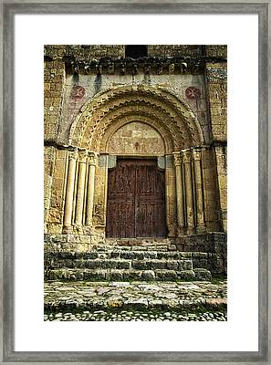 Vera Cruz Door Framed Print by Joan Carroll