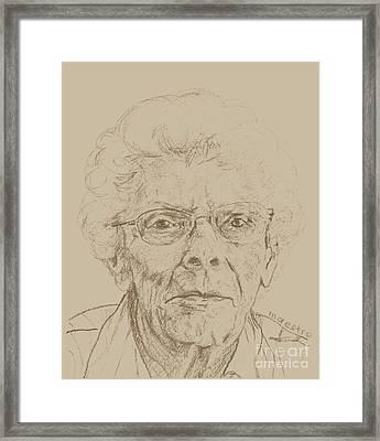 Vera Framed Print by PainterArtistFINs Husband MAESTRO