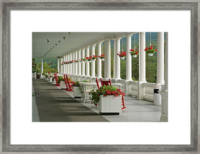 Veranda Mt Washington Hotel Framed Print by Gail Maloney