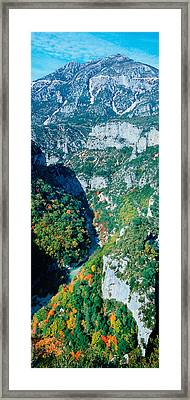 Verdon Gorge In Autumn Framed Print by Panoramic Images