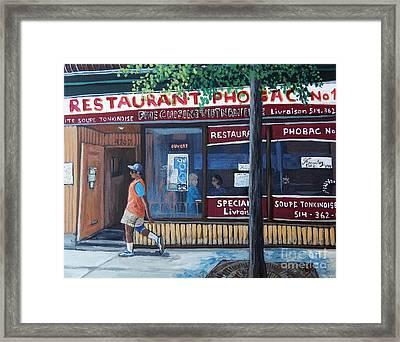 Verdun Street Scene Framed Print by Reb Frost