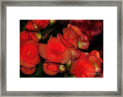 Vermillion Fire Framed Print by Kaye Menner