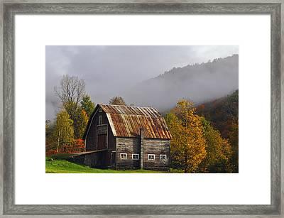 Vermont Autumn Barn Framed Print by Joseph Rossbach