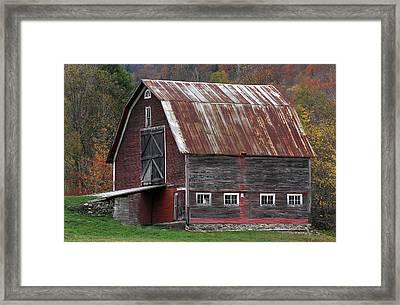Vermont Barn Art Framed Print by Juergen Roth
