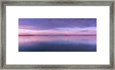 Vermont Burlington Lake Champlain Panorama Sunrise Framed Print by Andy Gimino