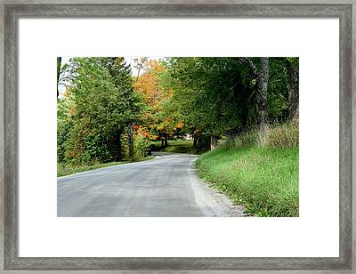 Vermont Country Road  Framed Print by Neal  Eslinger