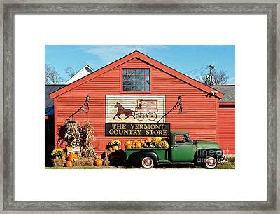 Vermont Country Store Framed Print by John Greim