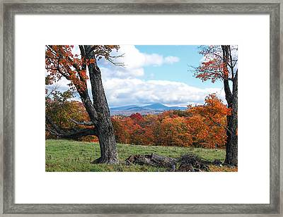 Vermont Countryside Framed Print by William Alexander